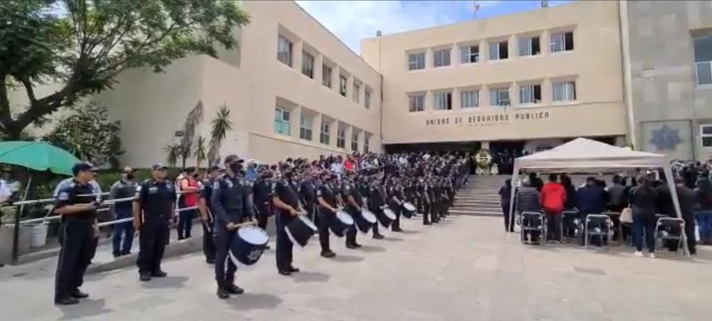 Autoridades despiden a policías de San Luis Potosí colgados en Zacatecas