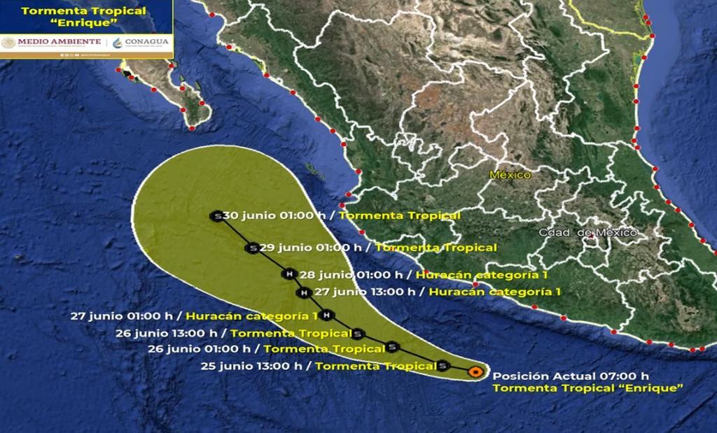 Tormenta tropical 'Enrique' se forma al sur de Zihuatanejo en Guerrero
