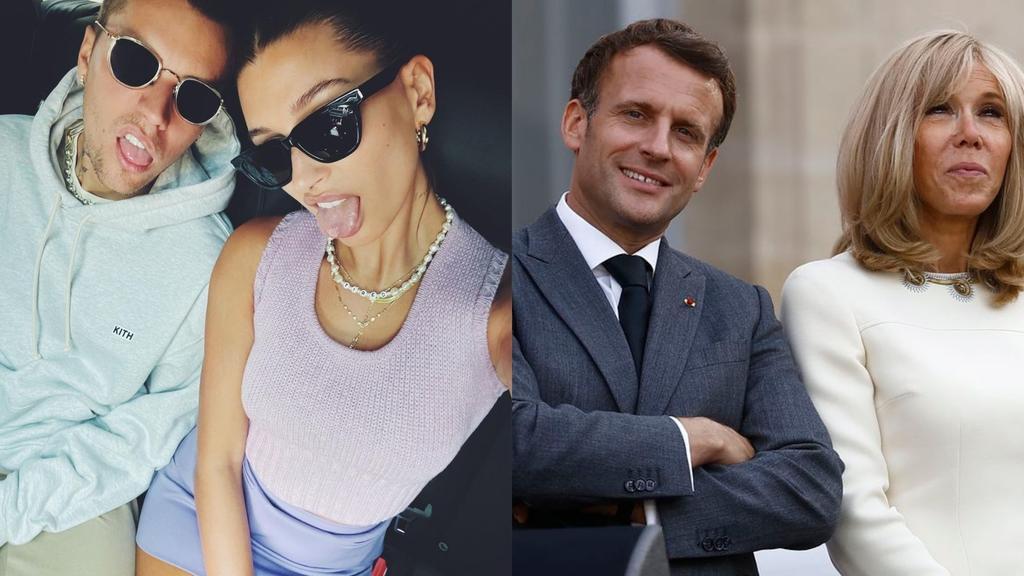 Genera polémica vestimenta de Justin Bieber y Hailey Baldwin en encuentro con el presidente Emmanuel Macron
