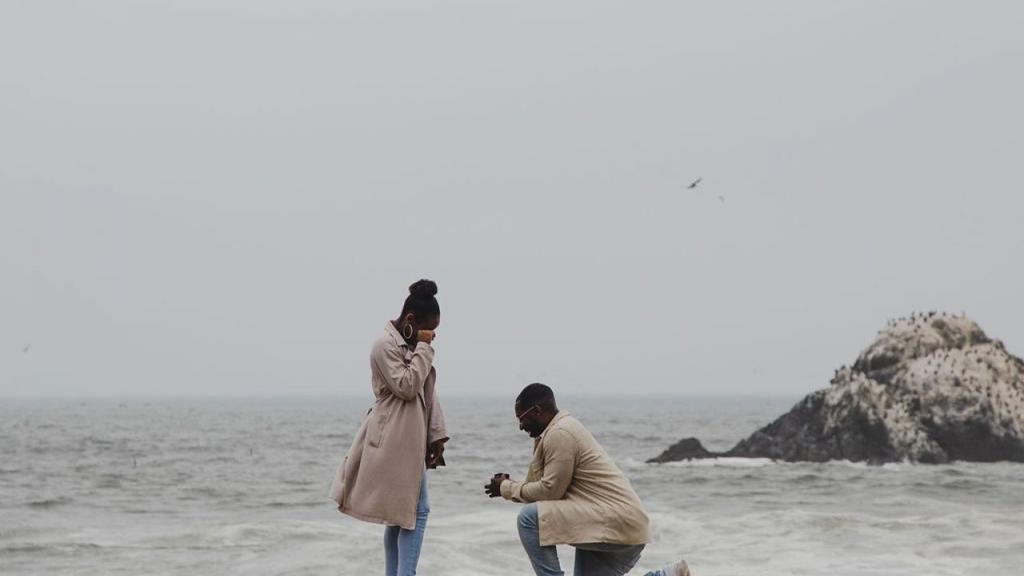 Fotógrafa capta por casualidad una propuesta de matrimonio