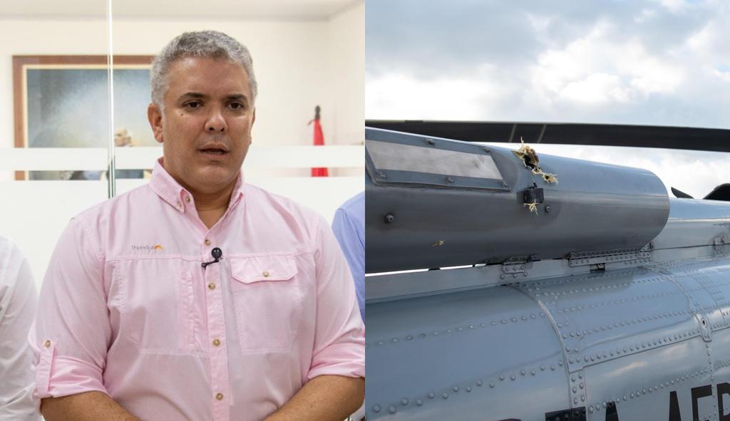 México expresa 'solidaridad' al presidente Iván Duque tras ataque a su helicóptero en Colombia