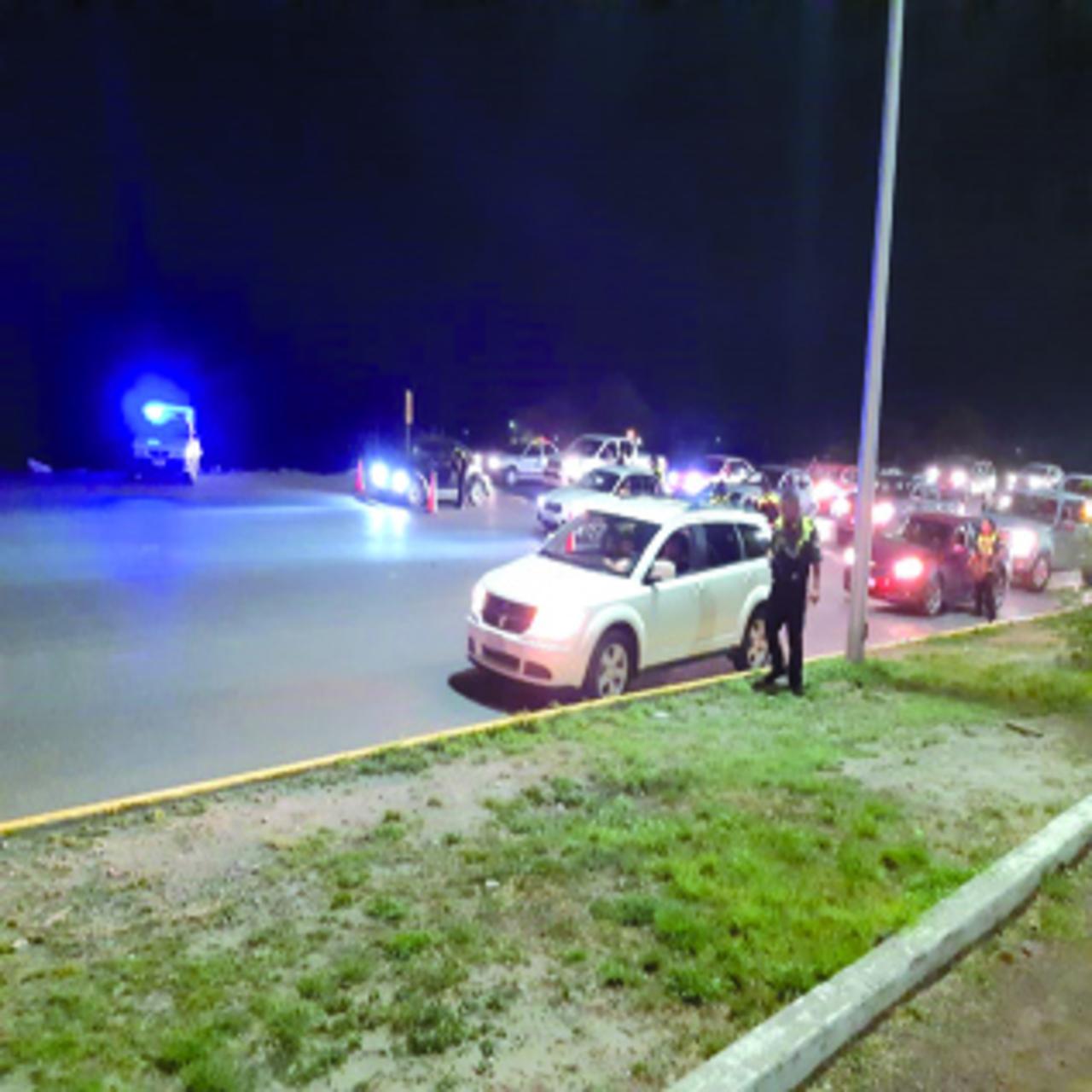 Infraccionan a 37 conductores en el operativo de sobriedad