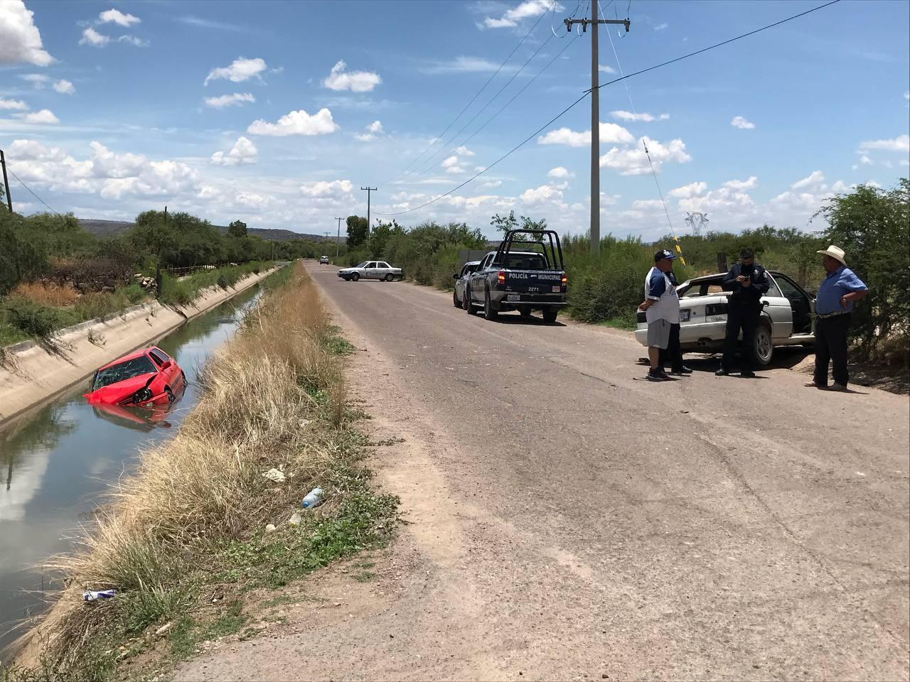 Aparatoso accidente en el poblado Aquiles Serdán