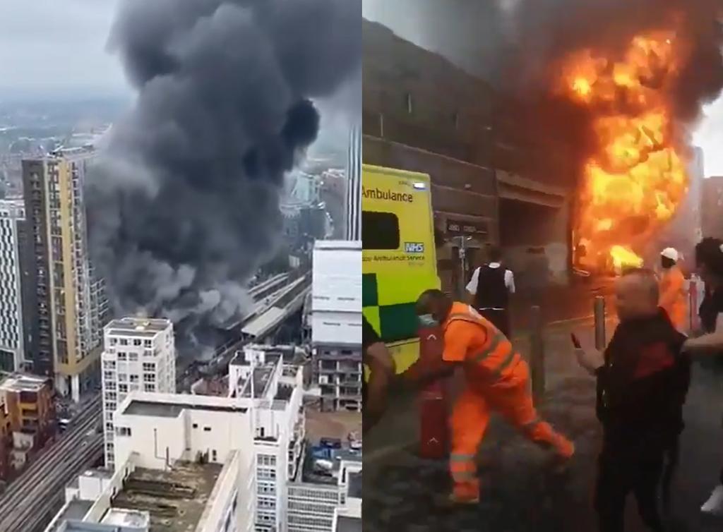 Fuerte explosión e incendio sacuden a estación del metro Londres