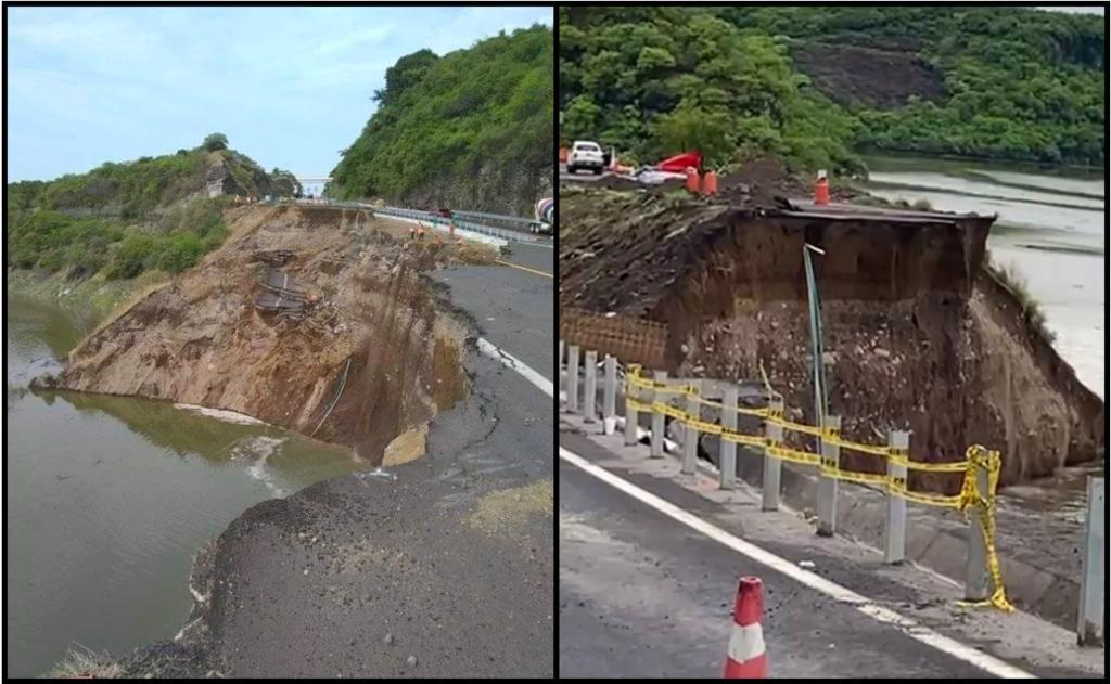 Autopista Siglo XXI es cerrada por colapso de tramo en Michoacán