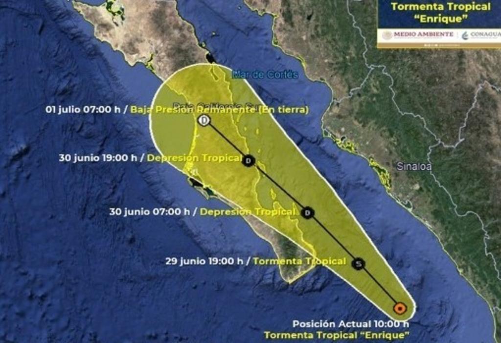 Tormenta 'Enrique' se debilita en su avance hasta la península de Baja California