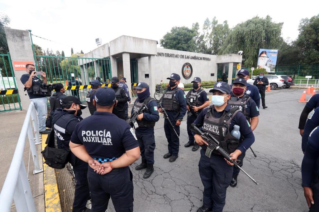 Estatales resguardan instalaciones de la Universidad de las Américas Puebla