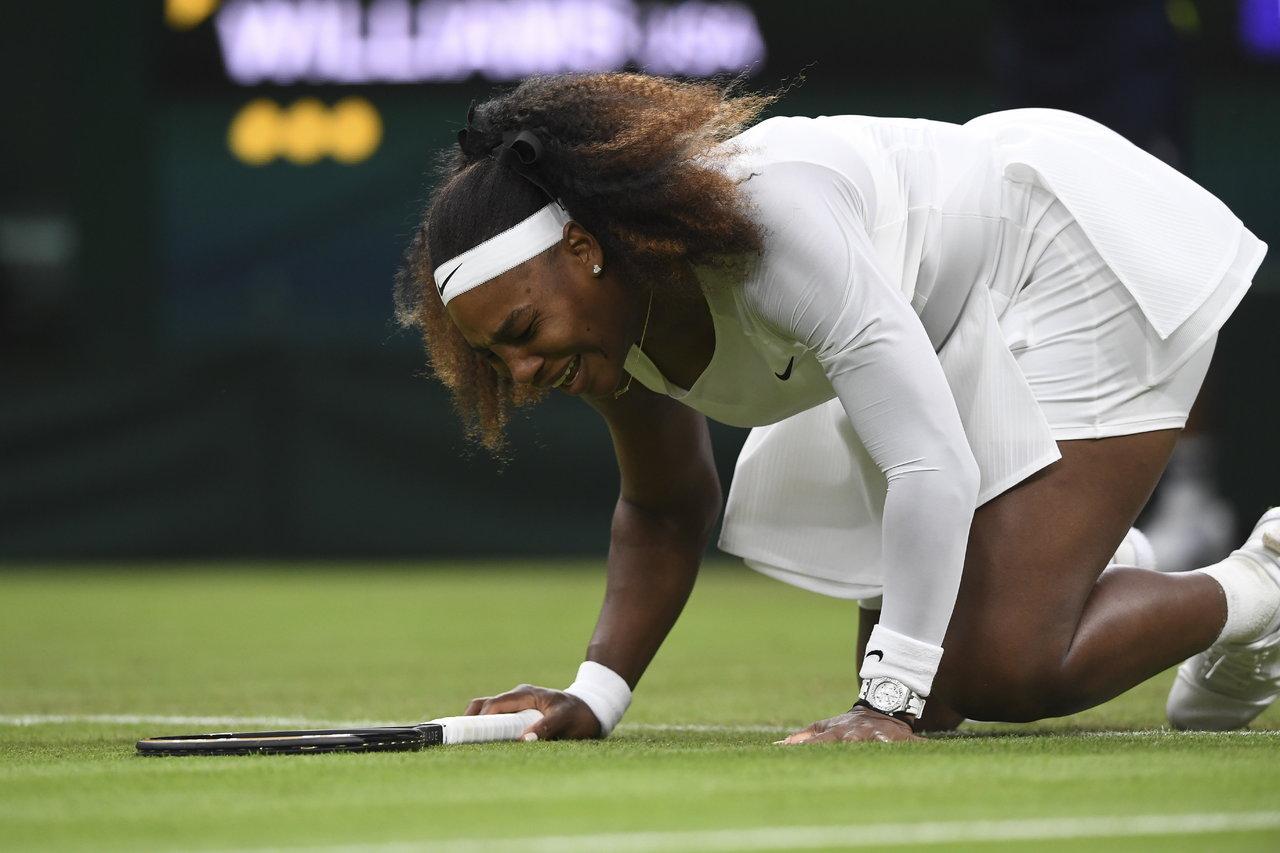 Serena Williams se retira de Wimbledon por una lesión en el  tobillo