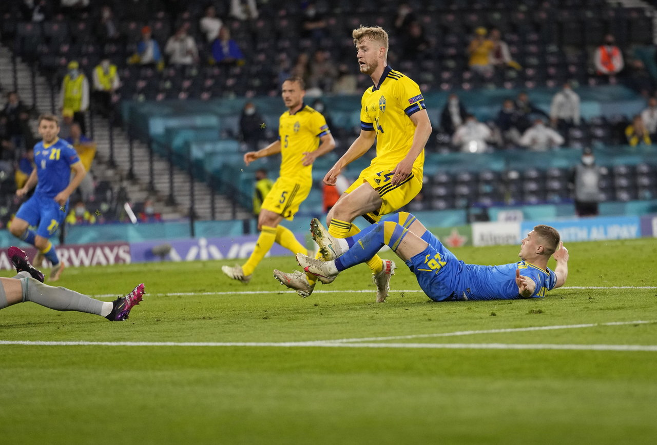 Ucrania hace historia al llegar a cuartos de final de la Eurocopa 2020 tras derrotar a Suecia
