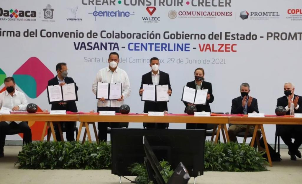 El gobierno de Oaxaca anunció firmas con las que se pretende alcanzar 70% de cobertura de internet