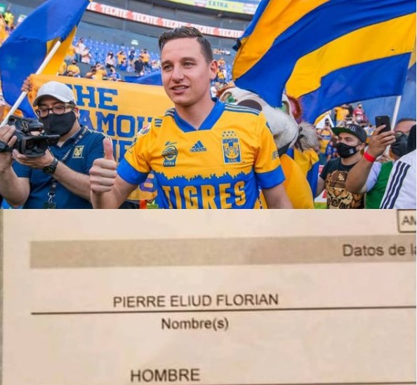 Aficionado de Tigres nombra a su hijo recién nacido en honor a Florian Thauvin y Gignac