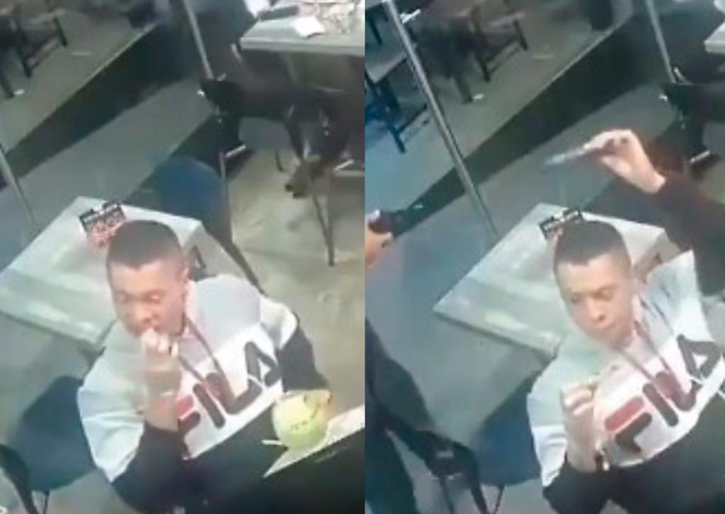 Lo asaltan en Nuevo León y él no deja de comer alitas; es el nuevo 'héroe' de la red