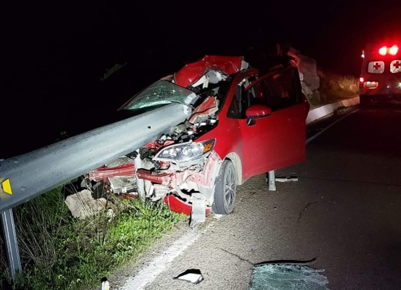 Aparatoso accidente sobre la carretera libre a Mazatlán