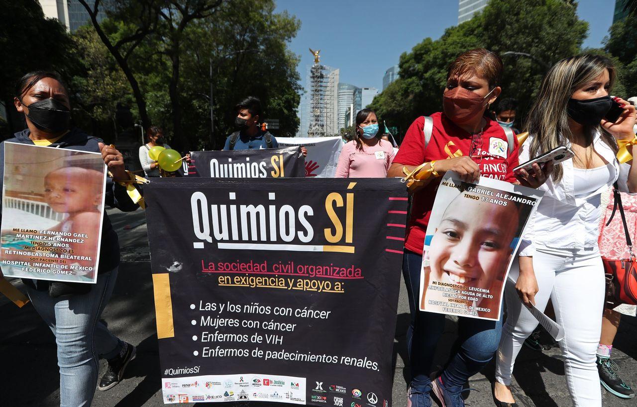 Manifestación contra escasez de medicinas