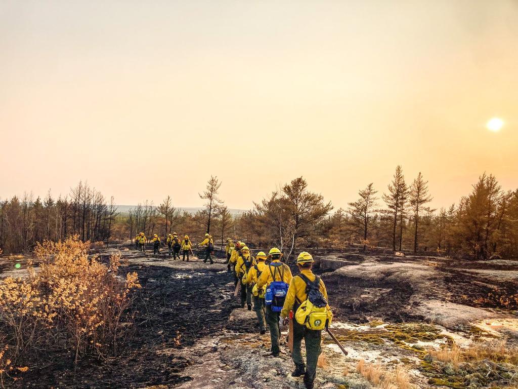 Brigadistas de Conafor combaten incendios en Canadá