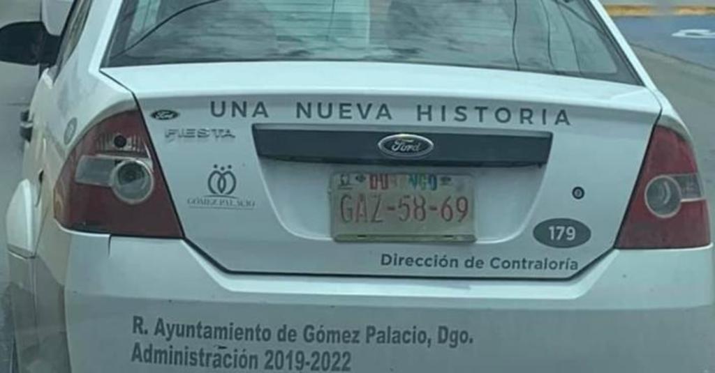 Exhiben a 'personal' del Ayuntamiento de Gómez Palacio con placas vencidas