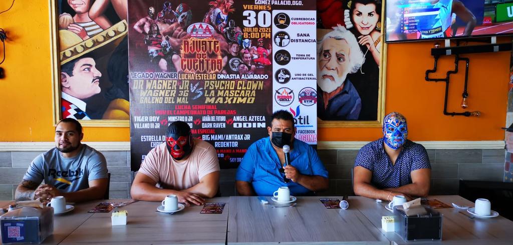 Lucha Triple A regresa al Palenque Gómez Palacio