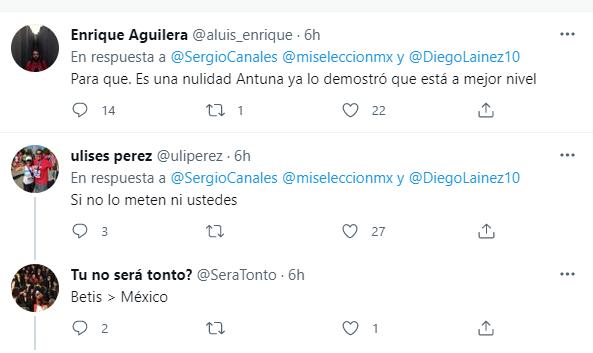 'Metan a Lainez';la petición de los jugadores del Betis a la Selección Mexicana Olímpica