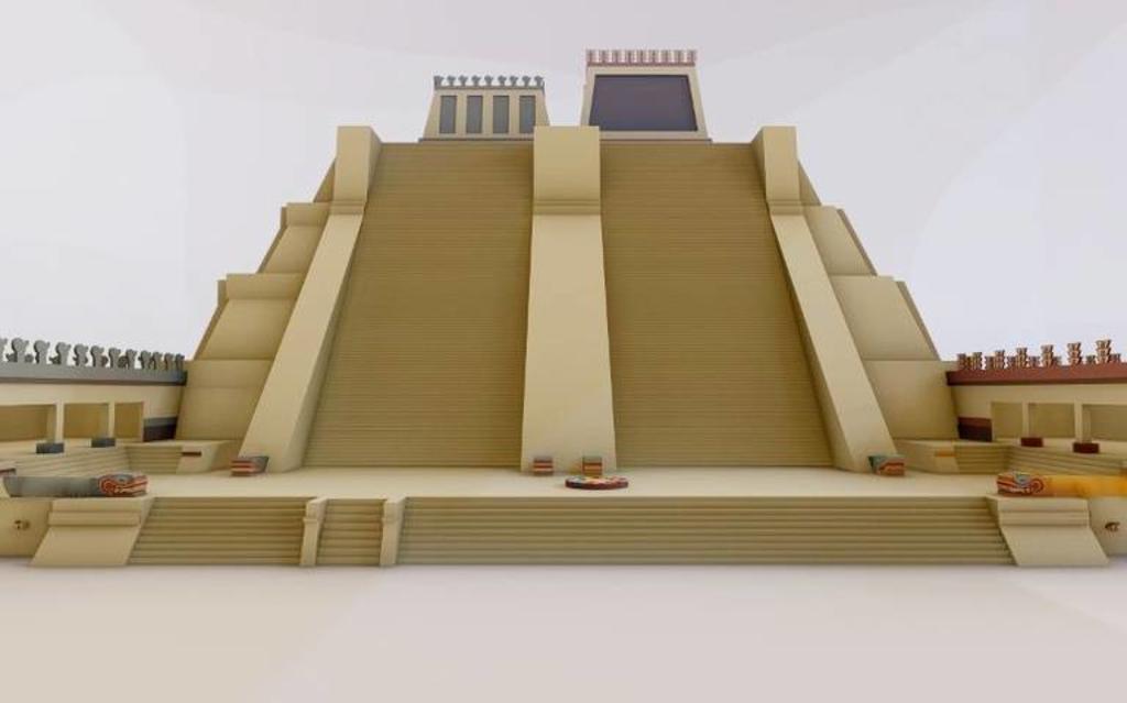 Presentan maqueta monumental del Templo Mayor en Zócalo de CDMX