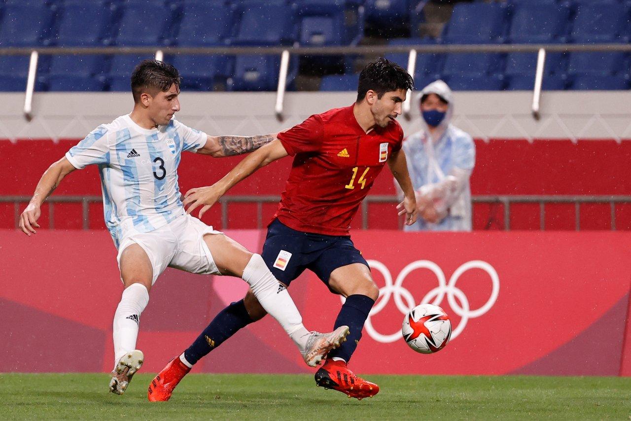 Argentina cae en fase de grupos del futbol de los Juegos Olímpicos tras empatar con España