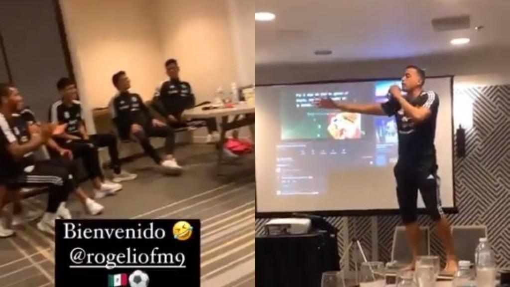Le dan su novatada a Rogelio Funes Mori en la Selección Mexicana