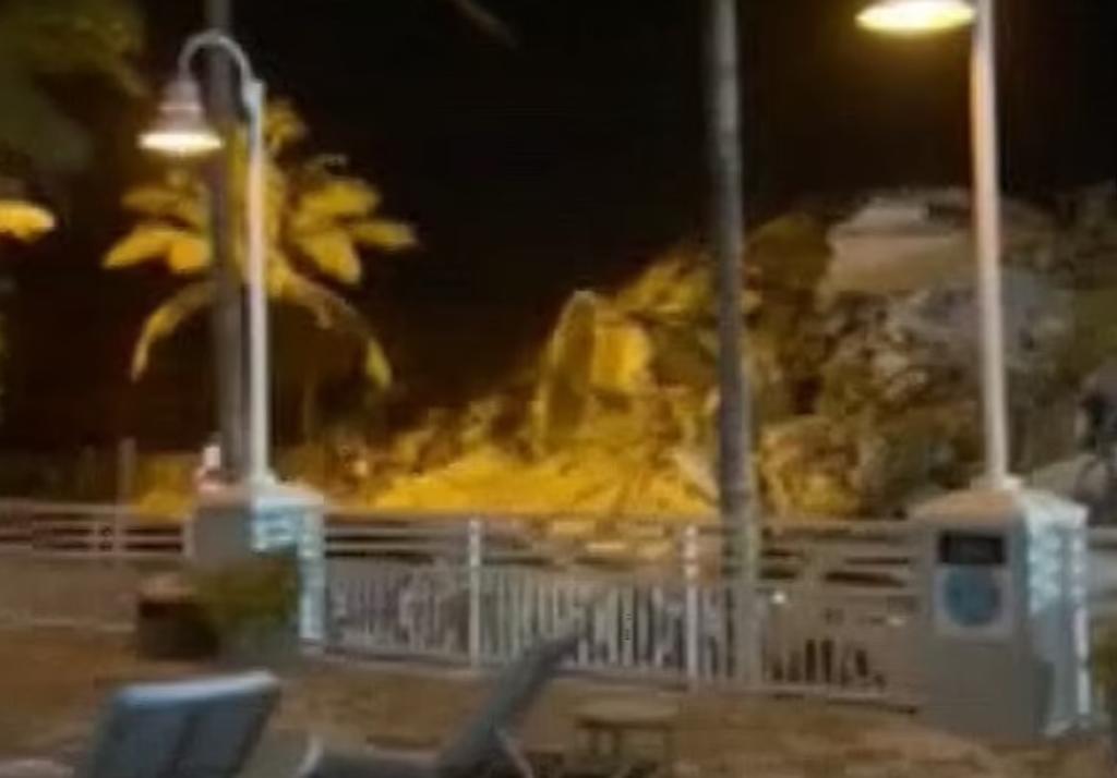 'Todos se murieron'; revelan video segundos después del colapso en Miami