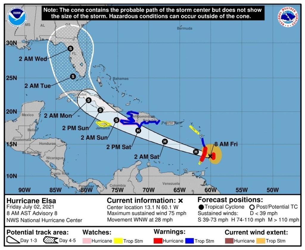 Cuba se prepara para el huracán 'Elsa' mientras atraviesa su peor rebrote de COVID-19