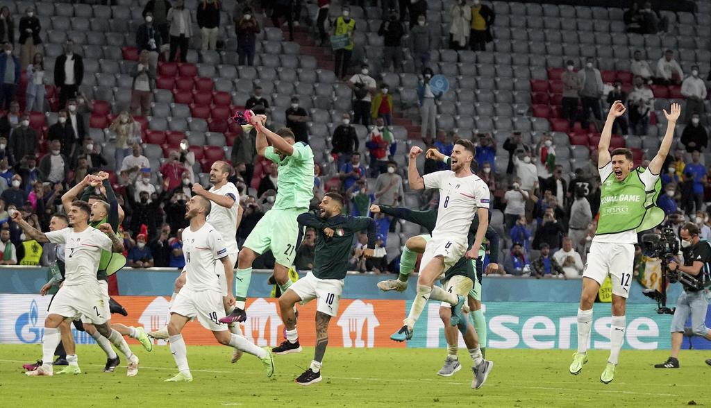 Va Italia a semifinales tras echar a Bélgica de la Euro 2020