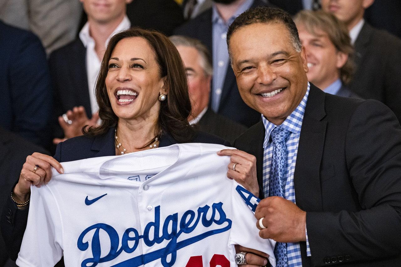 Joe Biden recibe a los Dodgers en la Casa Blanca