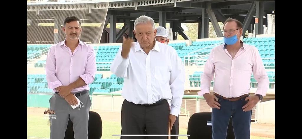 López Obrador reinaugura estadio en Sonora cuya rehabilitación costó 57 mdp