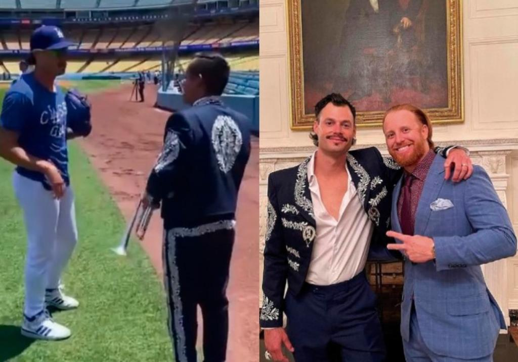 Joe Kelly de los Dodgers visita la Casa Blanca con chaqueta de Mariachi Garibaldi