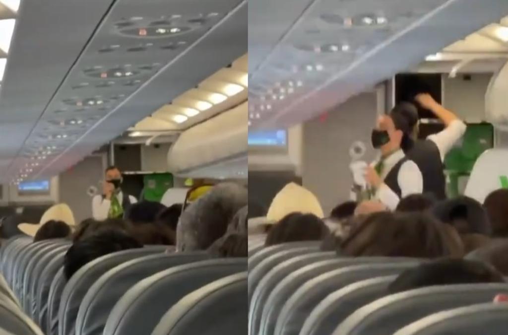 'Benito Camelo'; pasajeros 'alburean' a azafata mexicana y el video se vuelve viral