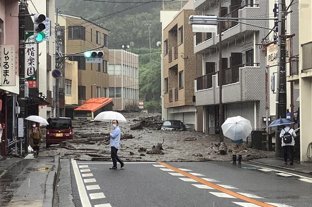Lluvias en Japón dejan 2 muertos