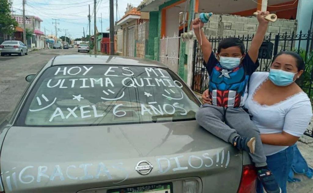 Axel, pequeño de 6 años, vence al COVID y lucha contra cáncer en Yucatán; celebra recibir última quimioterapia