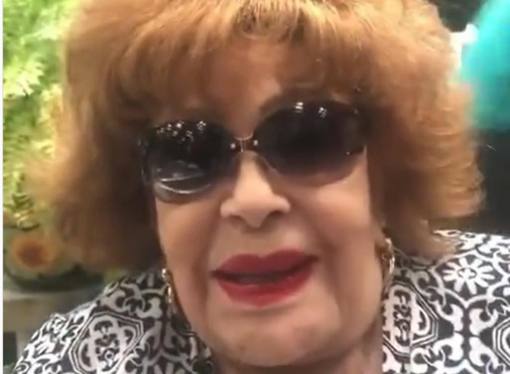 Aquí está su 'vedette' favorita: Silvia Pinal en nuevo video tras hospitalización