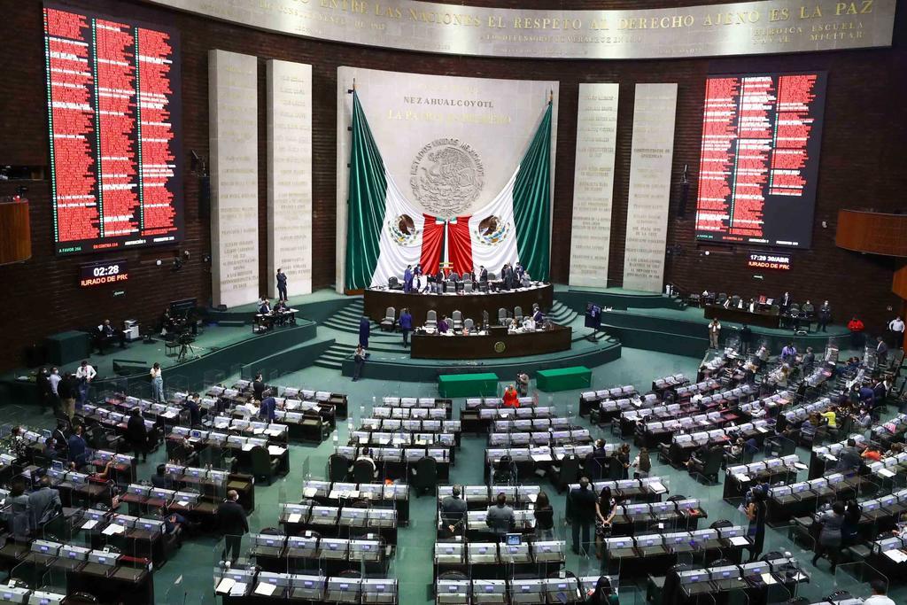 PRI y MC apoyaron 50 % de reformas de 4T en la Cámara de Diputados