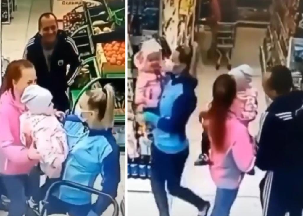 Cámara de seguridad capta a madre llevándose a una niña que no era suya