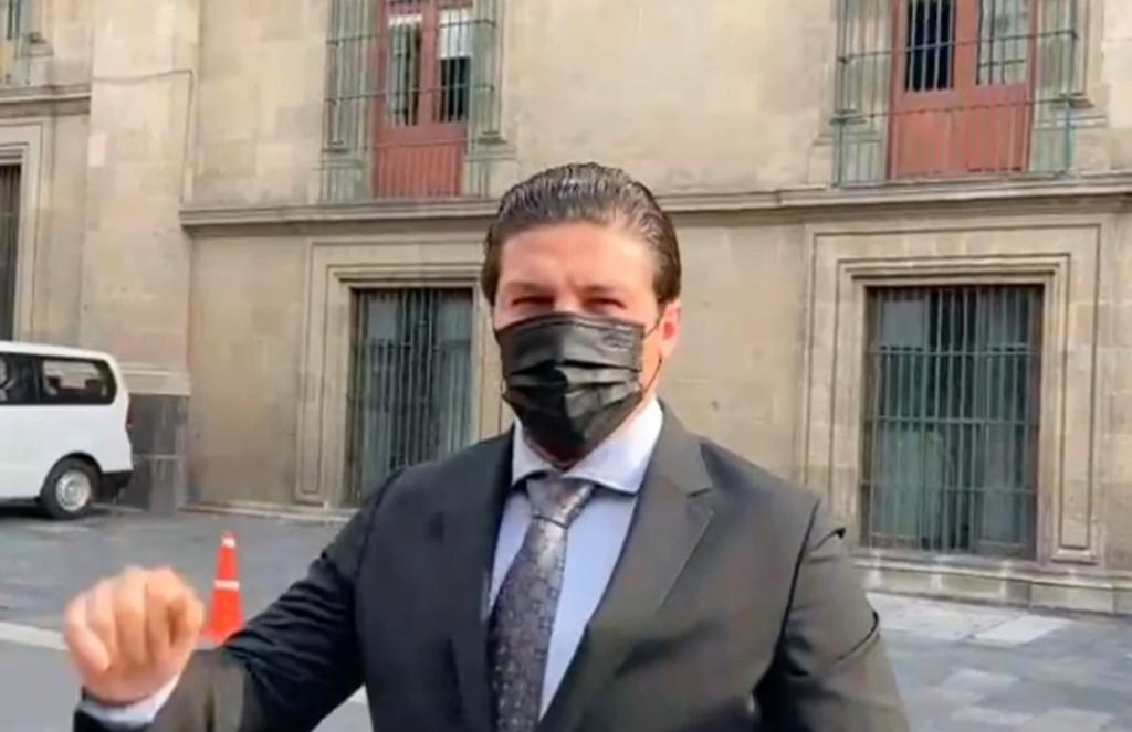 Samuel García se reúne con AMLO en Palacio Nacional