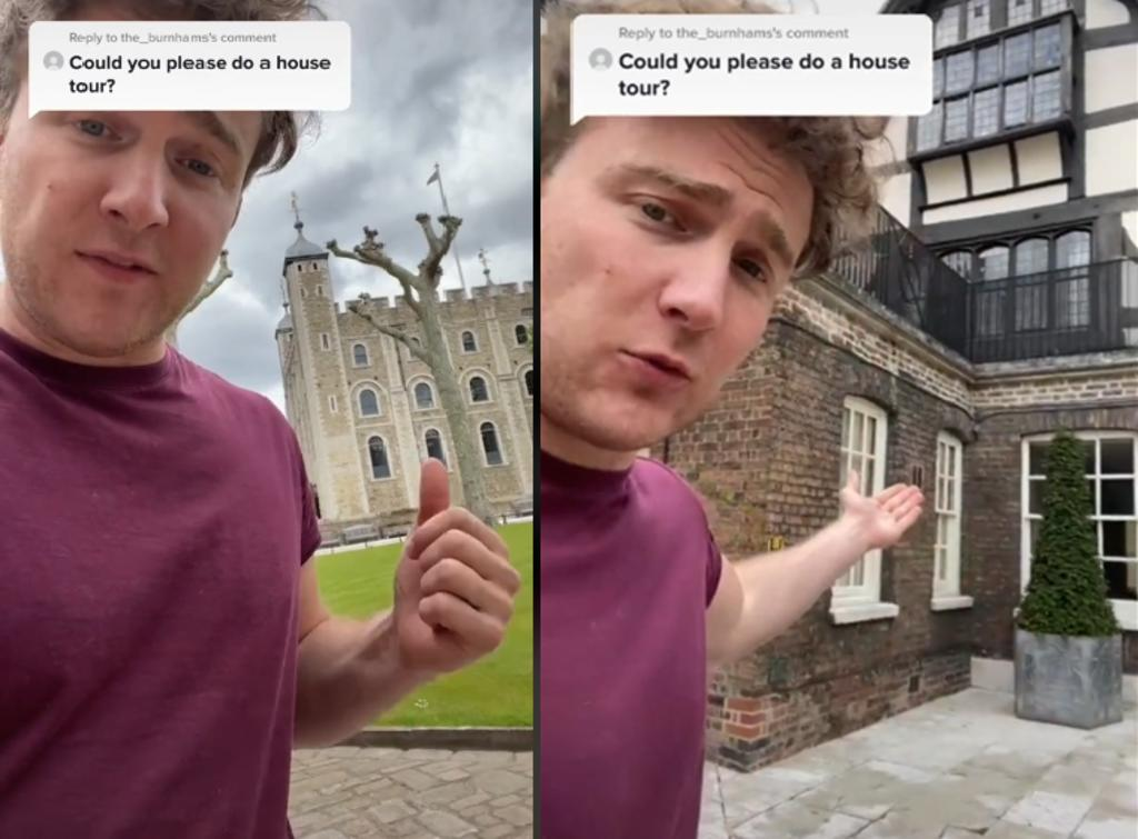 Británico se vuelve sensación en TikTok pues vive en la Torre de Londres