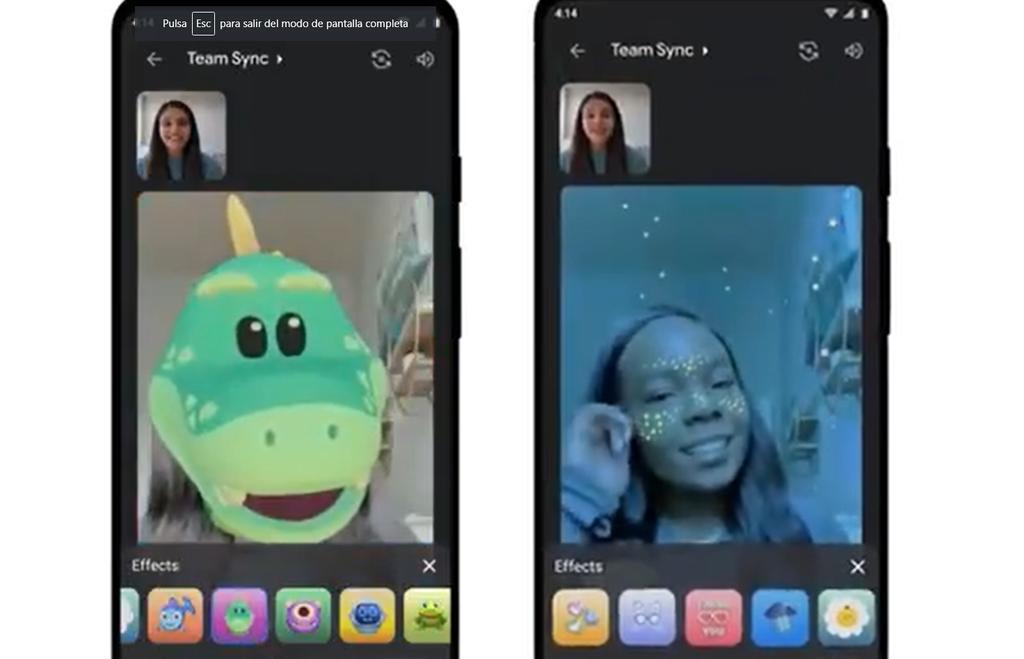 ¿Cómo usar los filtros de realidad aumentada de Google Meet?