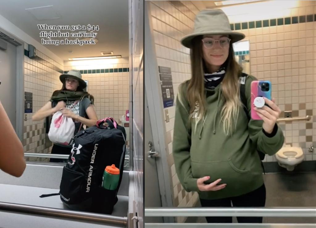 Joven finge estar embarazada para poder llevar una 'bolsa extra' en el avión
