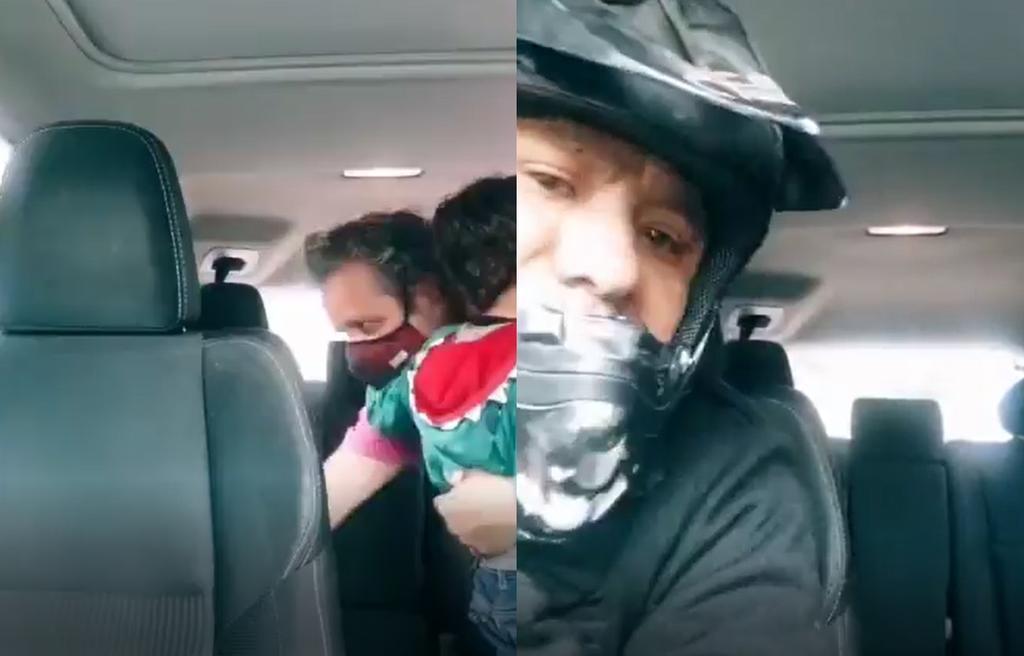 'El niño se queda'; viralizan robo de camioneta a padre de familia y su hijo
