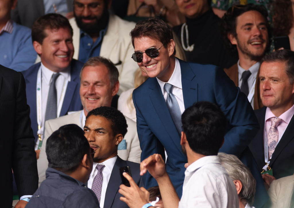 La 'ocupada' velada de Tom Cruise; asiste a Wimbledon y a la Eurocopa