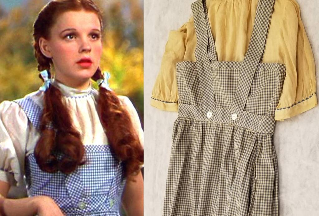 Profesor encuentra vestido 'original' de 'Dorothy' de The Wizard of Oz en una universidad