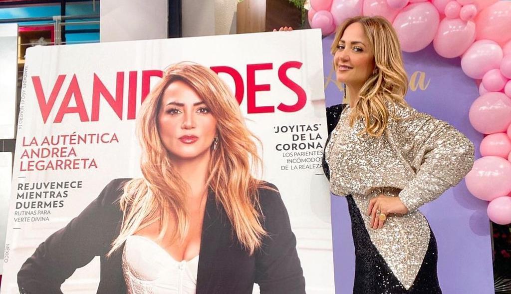 Critican portada de Andrea Legarreta por sus 50 años