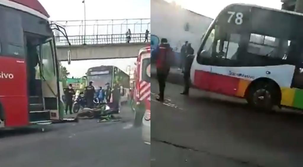 Difunden video del momento en que motociclista falleció atropellado al invadir carril en Ecatepec
