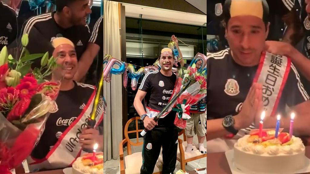 VIDEO: Memo Ochoa celebra su cumpleaños en Japón con 'pastelazo'