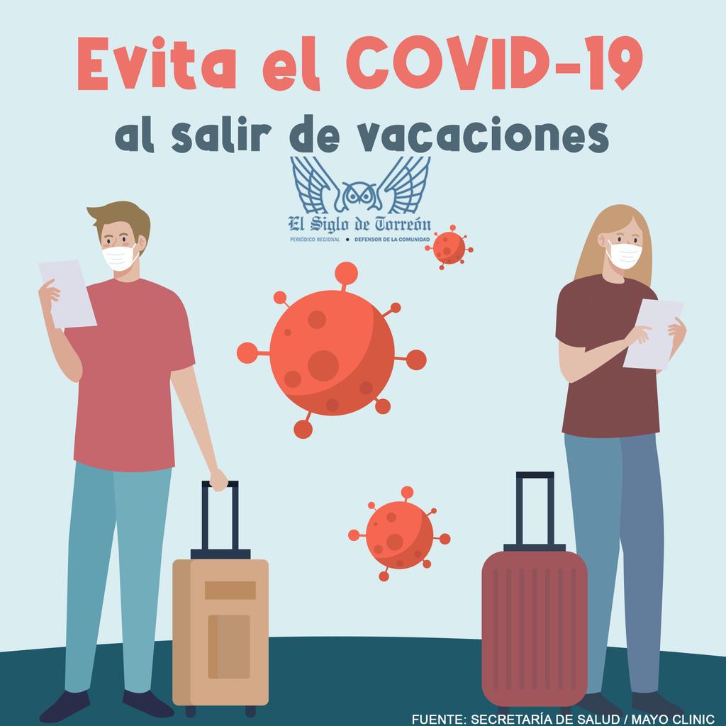 Evita el COVID-19 al salir de vacaciones