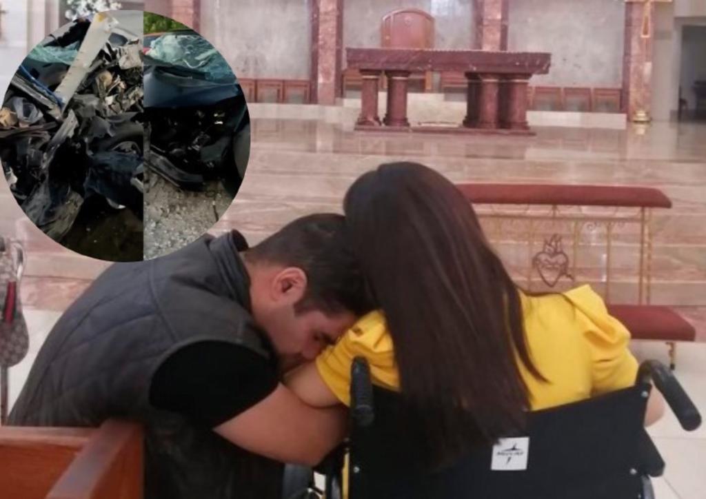 Emir Pabón y su esposa acuden a iglesia para agradecer estar vivos tras accidente