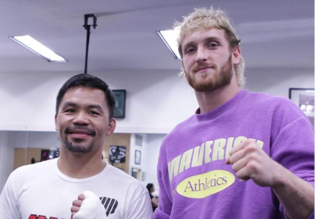 Logan Paul asiste a entrenamiento con Manny Pacquiao